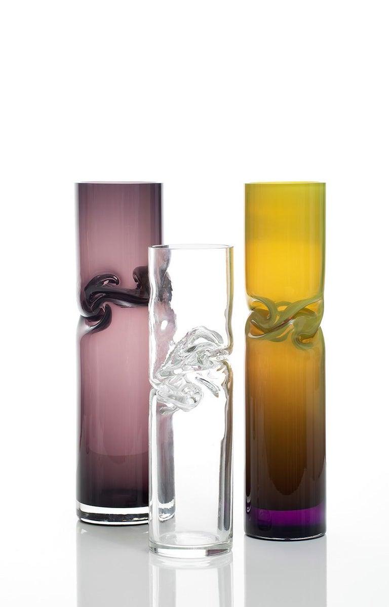 Modern Small Smashed Vase by Avram Rusu Studio For Sale
