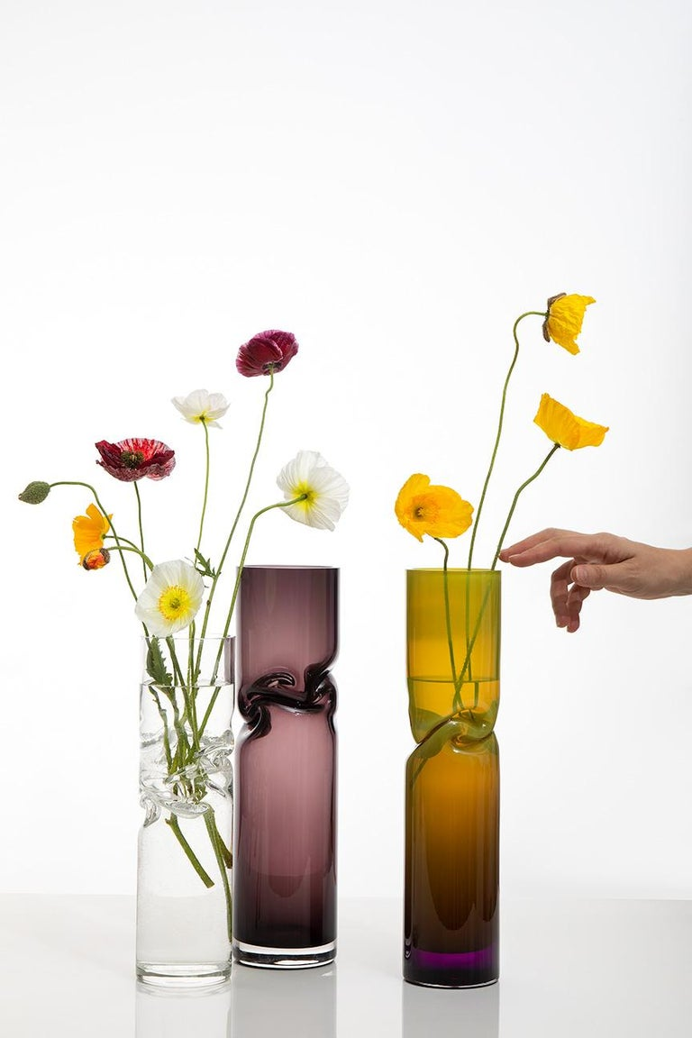 American Small Smashed Vase by Avram Rusu Studio For Sale