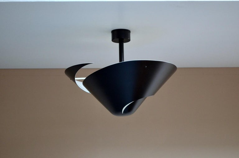 Contemporary Small Snail Ceiling Lamp by Serge Mouille For Sale