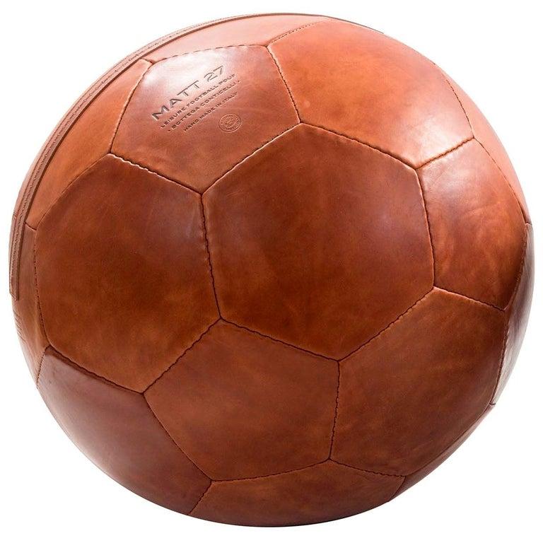 Small Soccer Ball Pouf Papaya For Sale