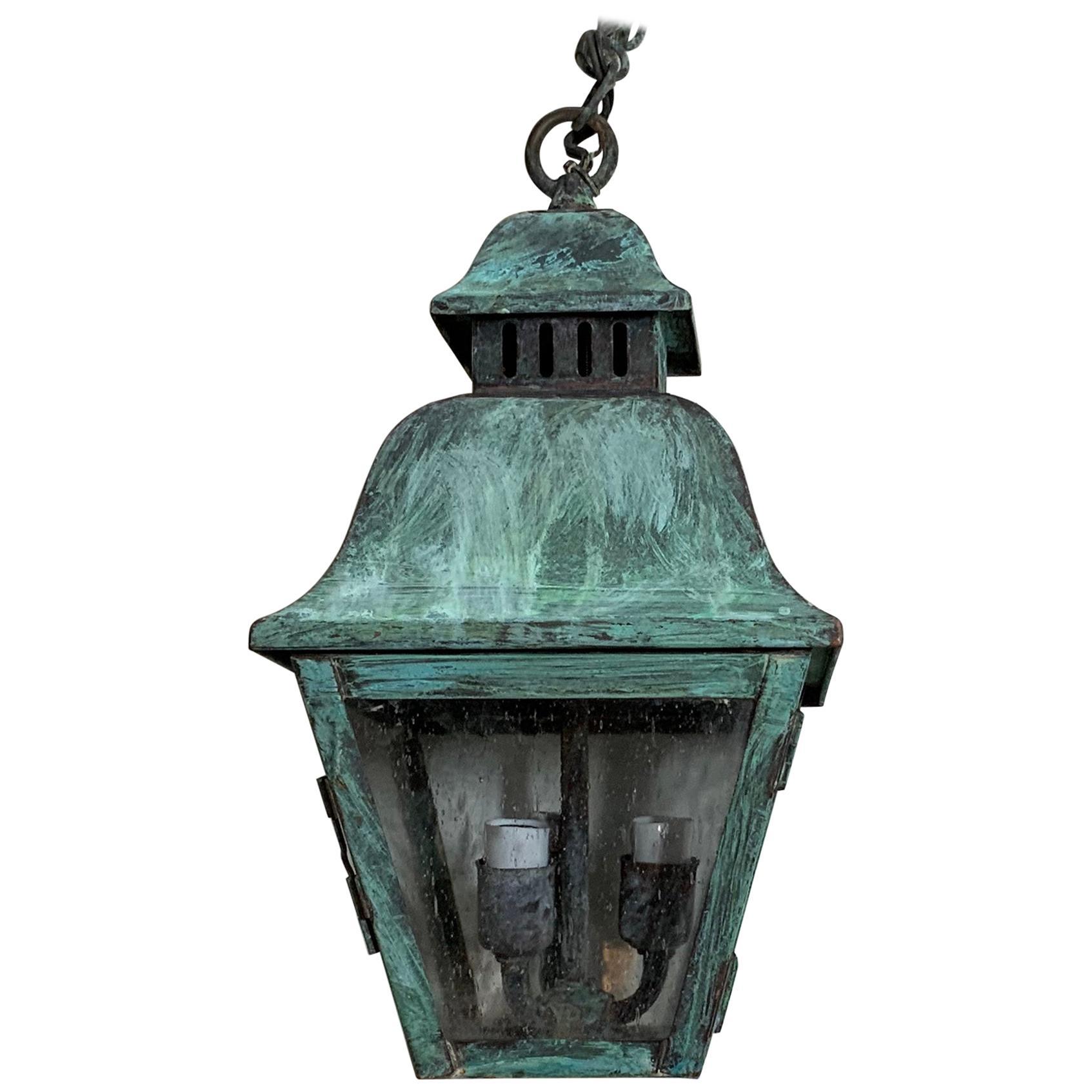 Small Solid Brass Hanging Lantern