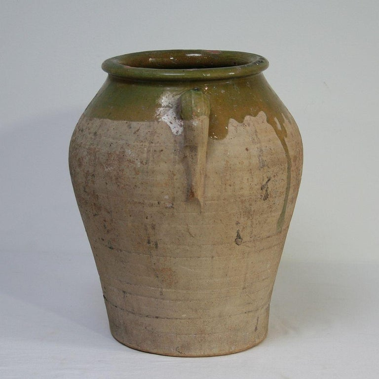 Terracotta Small Spanish 19th Century Olive Jar For Sale