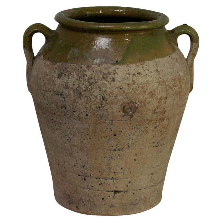Small Spanish 19th Century Olive Jar For Sale