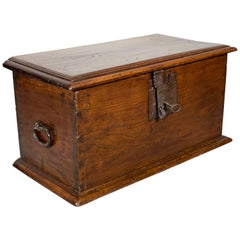 Small Spanish Walnut Chest from the 17th Century