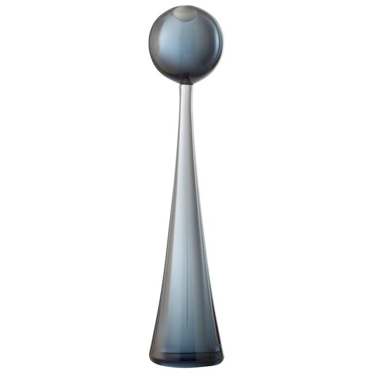 For Sale: Gray (01792) Small Sphere Elementi Lagunari in Murano Glass by Luciano Gaspari