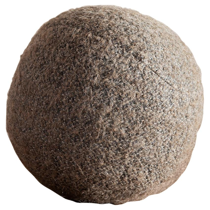 Hunt Modern Small Sphere Pillow in Pierre Frey Yeti Herisson