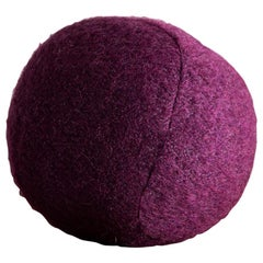 Small Sphere Pillow in Pierre Frey Yeti Zinzolin