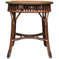 Small Stick Wicker Table