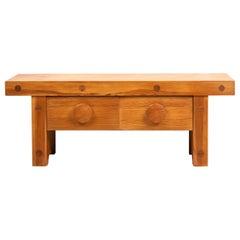 Small Swedish 20th Century Low Pine Bench