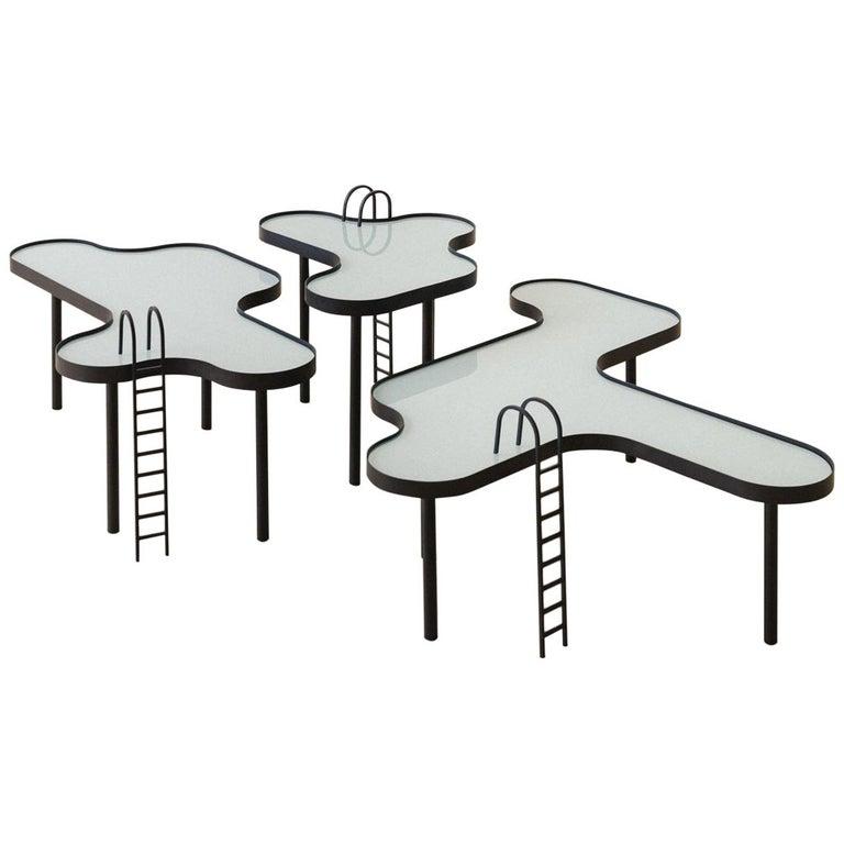 """Small """"Swimming Pool"""" Table by RAIN, Brazilian Contemporary Design"""