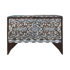 Small Syrian Mother of Pearl Inlaid Coffer or Trunk, circa 1900