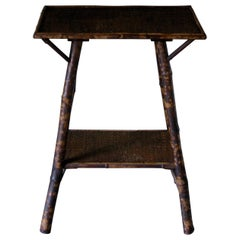 Small Table, Bamboo Table, Tiger Bamboo, 19th Century, English