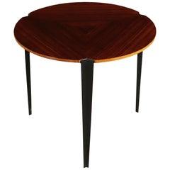 Small Table, Plywood Metaly, Italy 1950s-1960s Osvaldo Borsani, Tecno