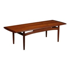 Small Table Solid Wood and Teak Veneer 1960s G Plan Production