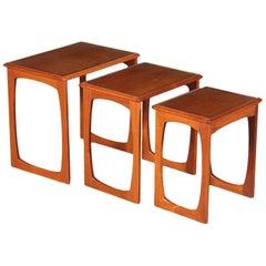 Small Tables Teak Veneer and Solid Wood, England, 1960s