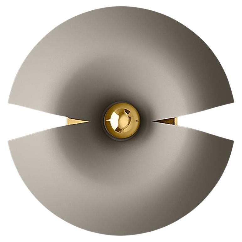 Small Taupe and Gold Contemporary Wall Lamp