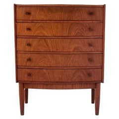 Small Teak Chest of Drawers, Danish Design, 1960s