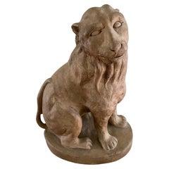 Small Terracotta Lion Sculpture