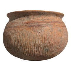 Small Thai Ban Chiang Red Pottery Jar, Early Period, circa 1100 BC, Thailand