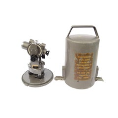 Small Theodolite of Gray Painted Metal Salmoiraghi Made in Italy in the 1950s