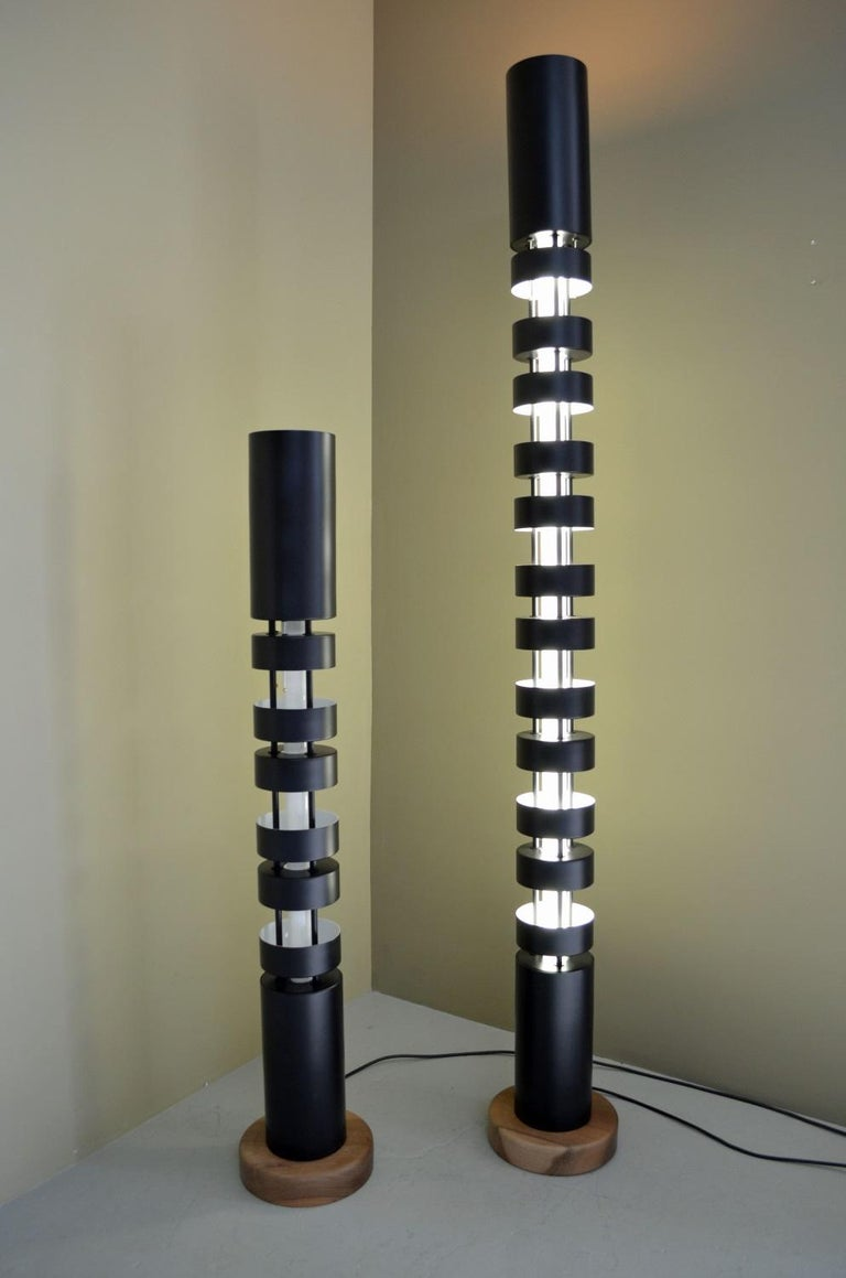 Metal Small TOTEM Floor Lamp by Serge Mouille For Sale