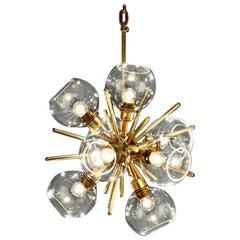 Small Translucid Blown Glass Pendant Lamp