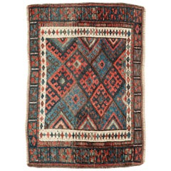 Small Tribal Antique Persian Jaff Kurd Rug