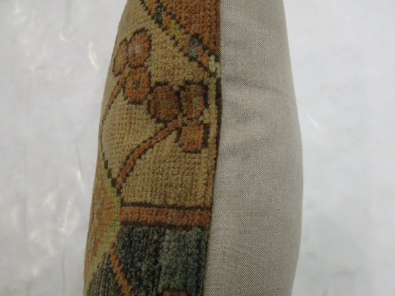 Small Tribal Ersari Rug Pillow In Good Condition For Sale In New York, NY