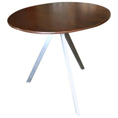 Small Tripod Leg Side Table with Round Knife Edge Top