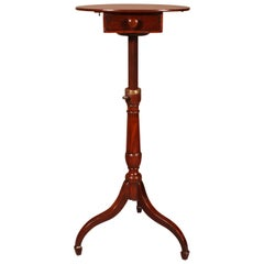 Small Tripod Pedestal Table with Mechanism, 19th Century in Mahogany