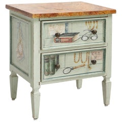 Small Trompe l'oeil Painted Commode