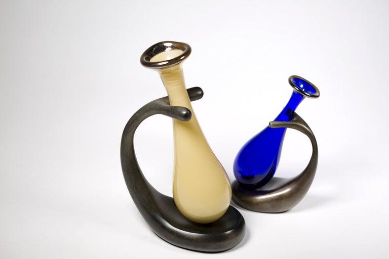 Mozer: Truly Lazy Vase: Jordan Mozer (B.1958) Made in Chicago, 1999   Small vase: about 4