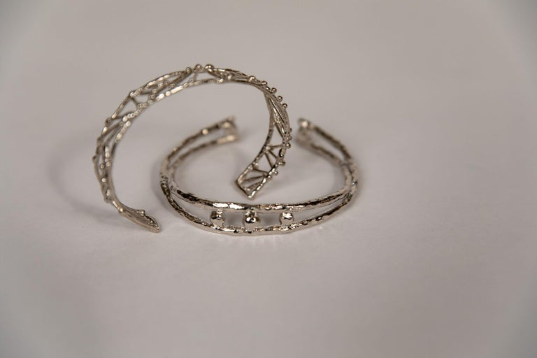 Gilt Small Twig Bracelet by Franck Evennou, France, 2018 For Sale