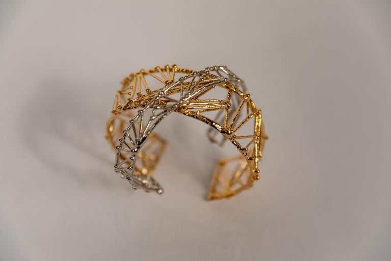 Contemporary Small Twig Bracelet by Franck Evennou, France, 2018 For Sale
