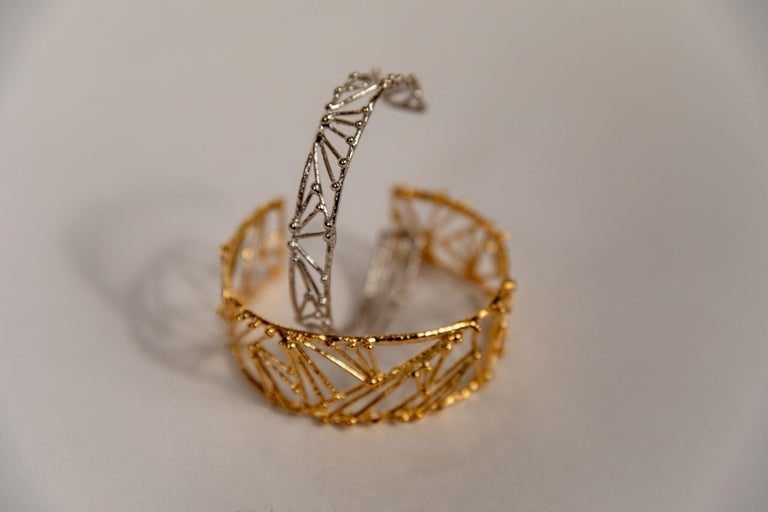 Bronze Small Twig Bracelet by Franck Evennou, France, 2018 For Sale