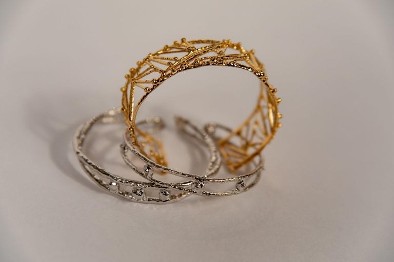 Small Twig Bracelet by Franck Evennou, France, 2018 For Sale 1