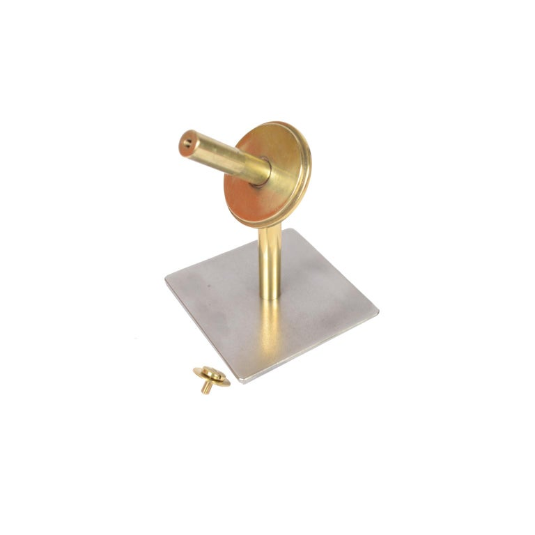 Small Two-Bladed Bronze Propeller with Base For Sale 7