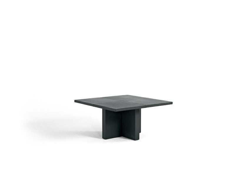 Small Upholstered Leather Table Customizable In New Condition For Sale In London, GB
