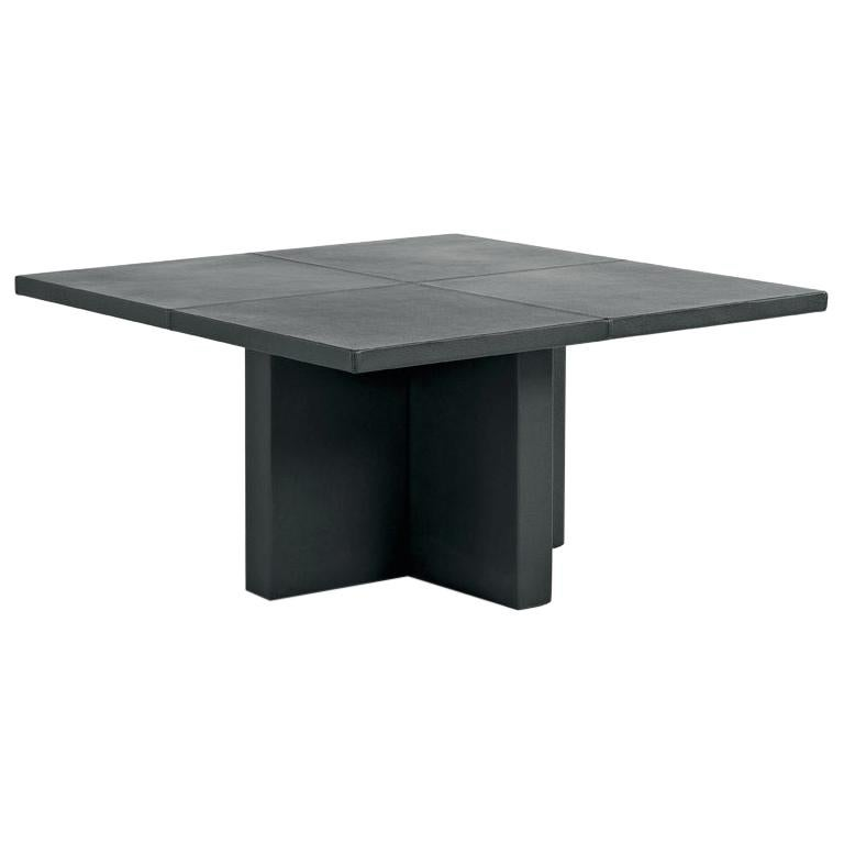 Small Upholstered Leather Table Customizable For Sale