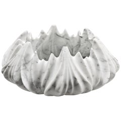 Sculptural Marble Vase by Zaha Hadid in Polished Statuario Marble