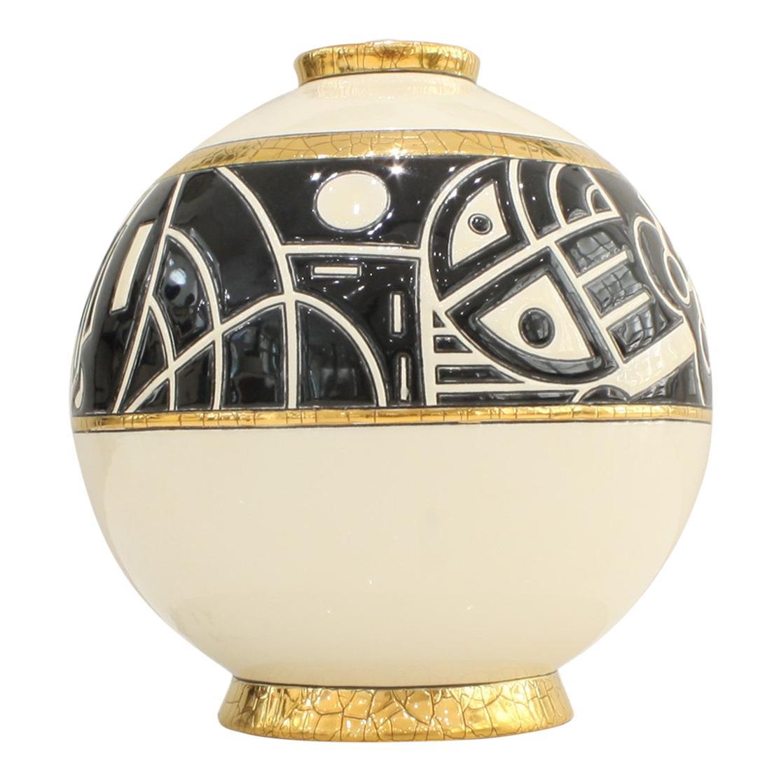 Small Vase Emaux de Longwy, Motifs