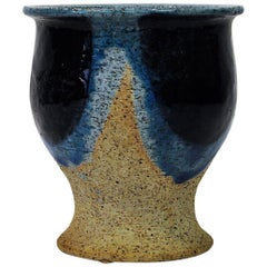 Small Vase in Blue and Beige by Inger Persson for Rörstrand, 1960s