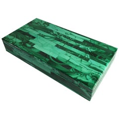 Small Velvet-lined Malachite Chest