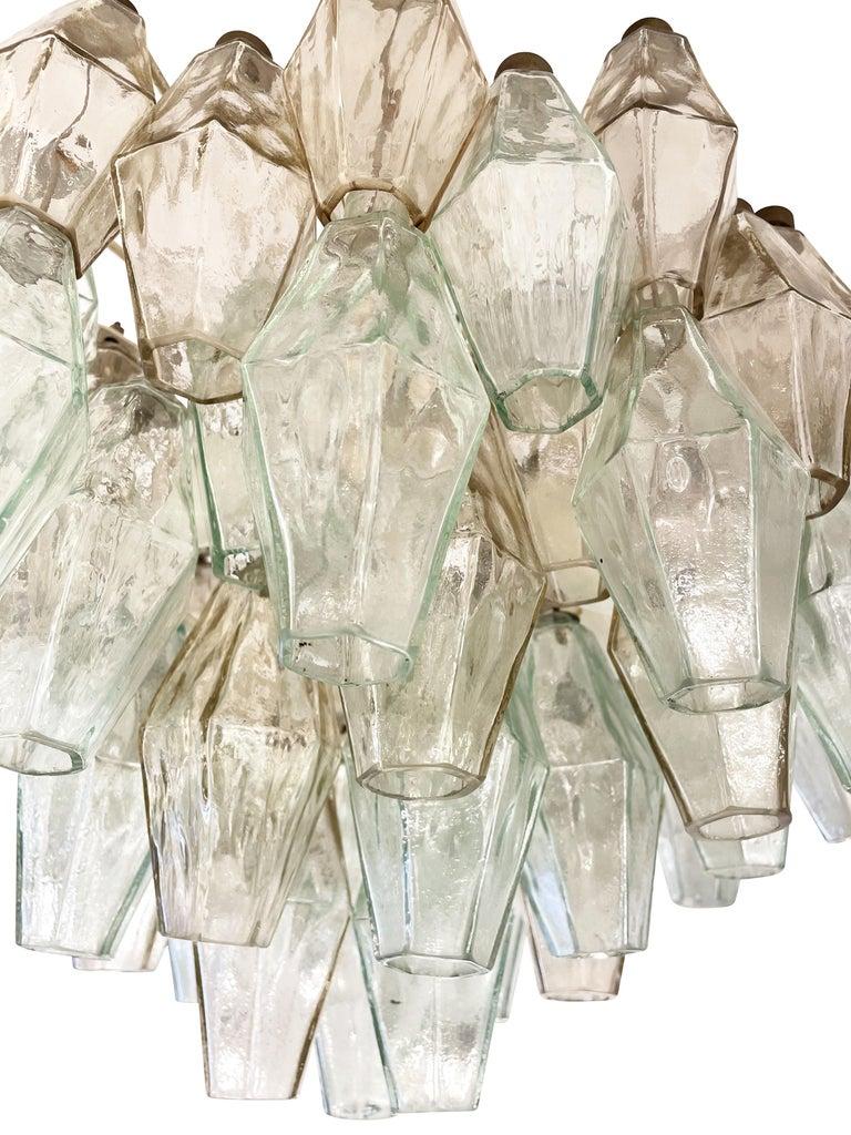 Mid-Century Modern Small Venini Poliedri Murano Glass Chandelier