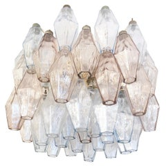 Small Venini Poliedri Murano Glass Chandelier