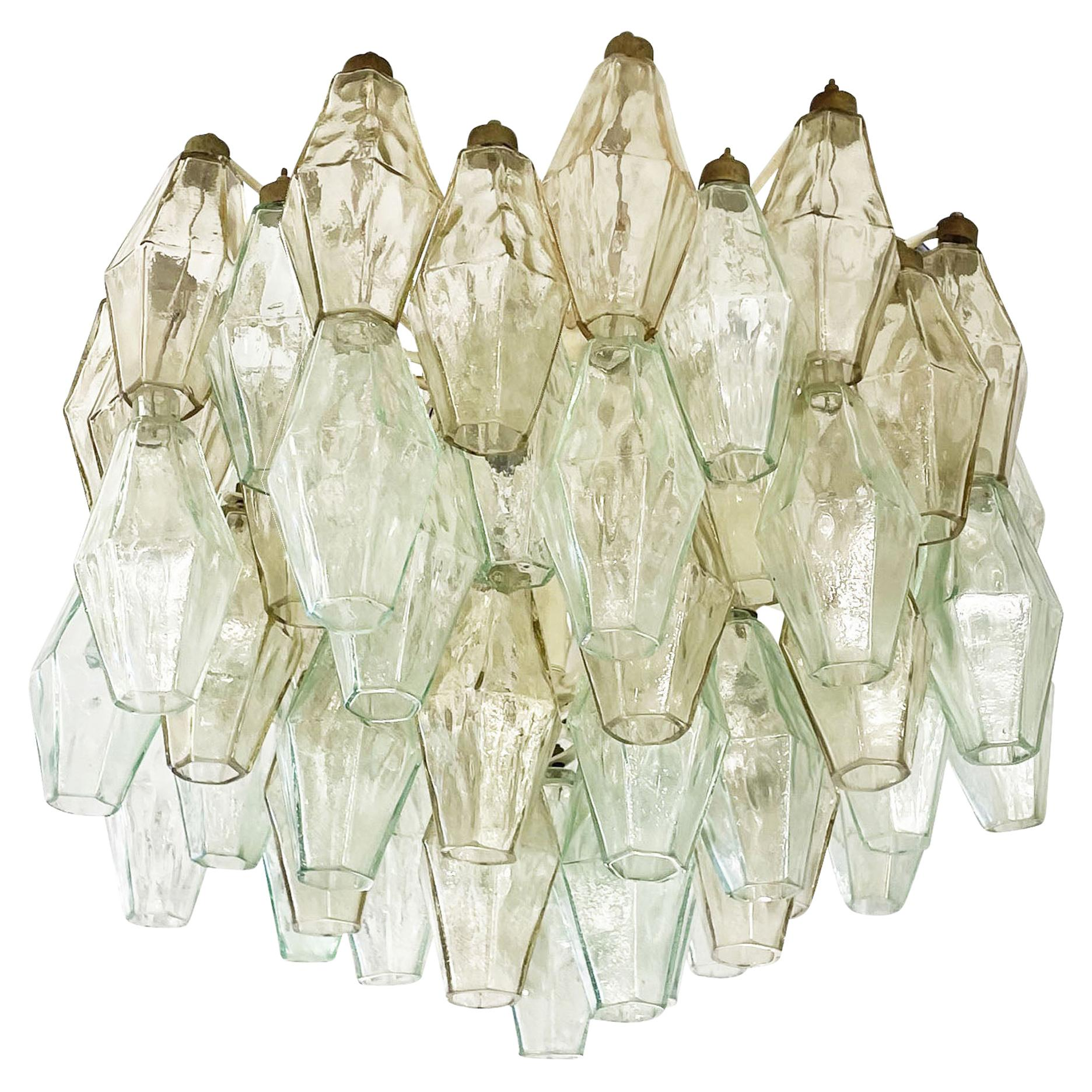 Small Venini Poliedri Murano Glass Chandelier