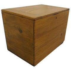Small Victorian Pine Stationary Box or Treasure Chest