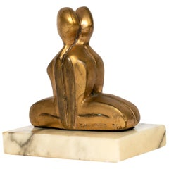 Small Vintage Bronze Sculpture by Canadian Jack Culiner