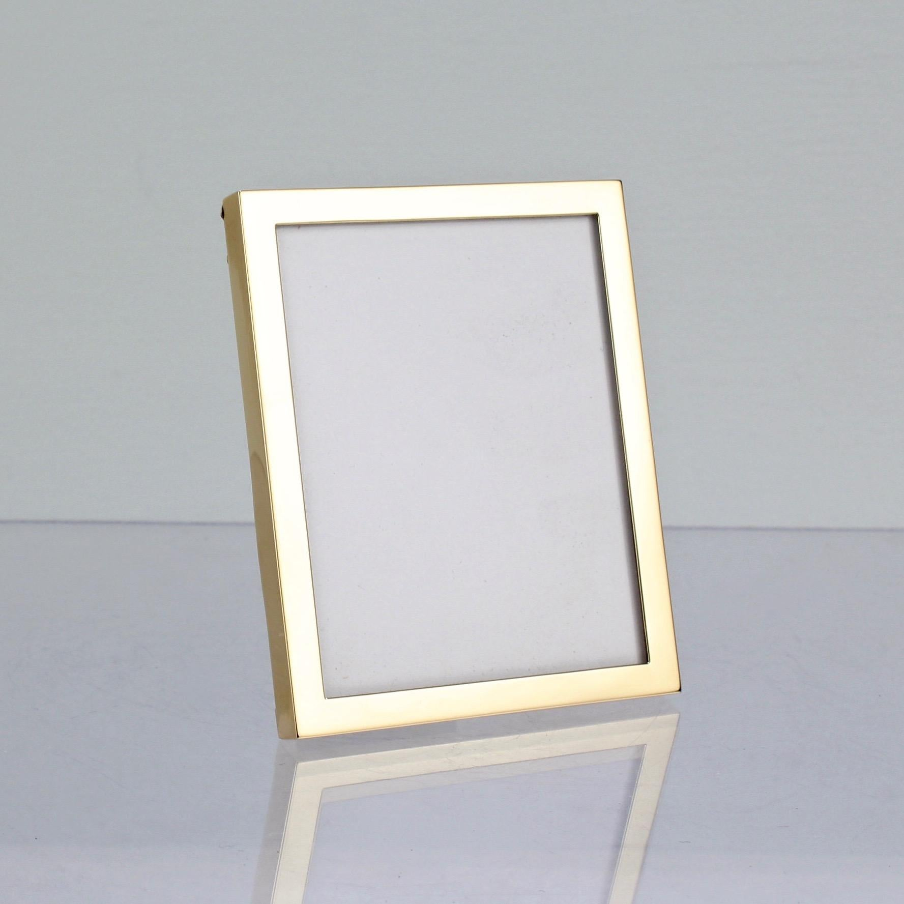 Small Vintage Cartier 14 Karat Gold Picture Or Photo Frame At 1stdibs
