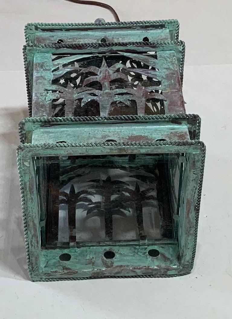 Small Vintage Hanging Copper Lantern 2